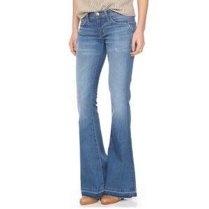 NWT Current/Elliott the low bell slim jeans sz 25